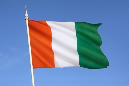cote d ivoire: The flag of Ivory Coast or Cote d Ivoire