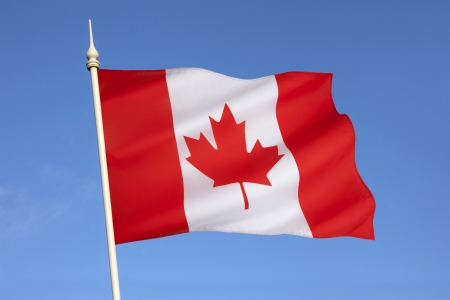 The national flag of Canada, also known as the Maple Leaf  The flag made its first official appearance on February 15, 1965; the date is now celebrated annually as National Flag of Canada Day  photo
