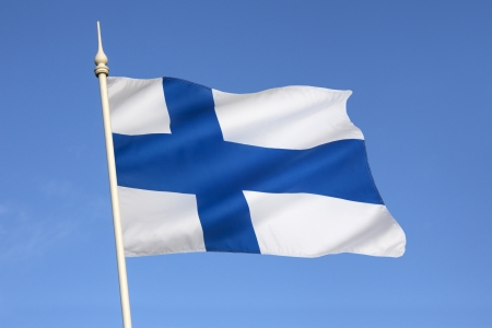 The flag of Finland dates from the beginning of the 20th century  On a white background, it features a blue Nordic cross, which represents Christianity