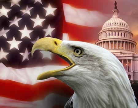 Symbols of The United States of America Stock Photo
