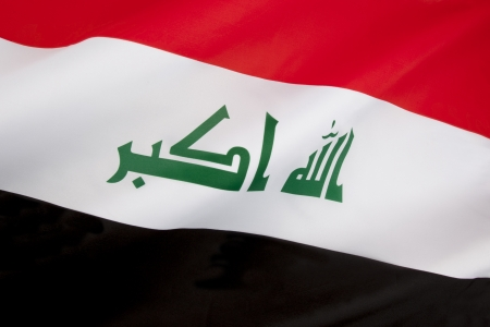 The flag of Iraq  On 22 January 2008, a new design for the flag was confirmed  The parliament intended that the new design last for one year, after which a final decision on the flag would be made  However, the flag was reviewed in parliament on 30 April Stock Photo - 24335948