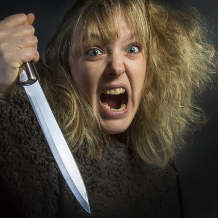 savagery: A psychotic young woman - domestic violence