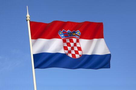 combines: The flag of Croatia combines the colors of the flags of the Kingdom of Croatia  red and white , the Kingdom of Slavonia  white and blue  and the Kingdom of Dalmatia  red and blue