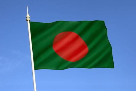 The national flag of Bangladesh photo