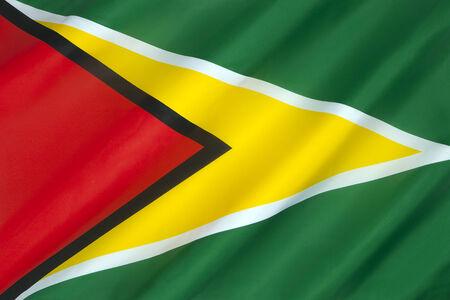 Guyana: The flag of Guyana Stock Photo