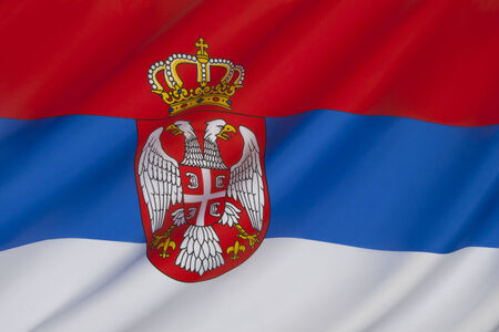 Flag of Serbia  photo