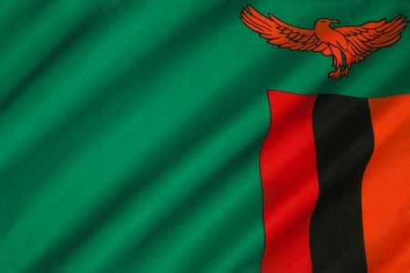 zambian flag: The national flag of Zambia