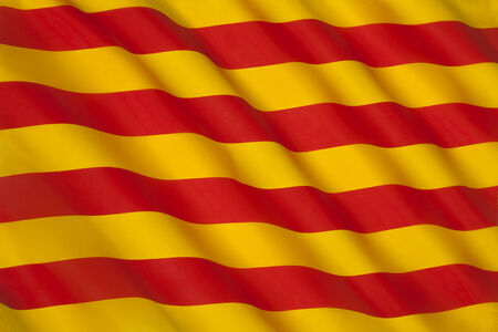 The flag of Catalonia in Spain  Known as the Senyera