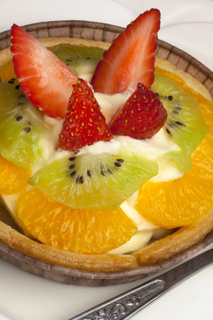 french pastry: A French Pastry is a a rich pastry, often with a filling of fruit or custard  Stock Photo