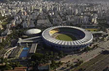 Aerial view of the Estadio do Maracana or Maracana Stadium in Rio de Janeiro, Brazil  Host the FIFA World Cup of 2014