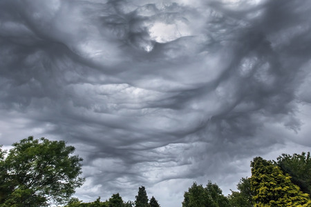 Dramatic sky - Thunderstorm clouds  photo
