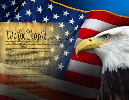Símbolos Patrios de los Estados Unidos de América Foto de archivo - 29843801