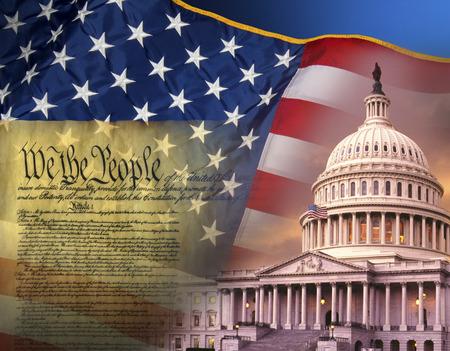 Patriotic Symbols of the United States of America Standard-Bild