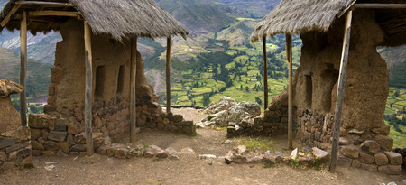 sacred valley of the incas: Small part of the Inca ruins at Qantus Raqay in the Sacred Valley of the Incas in Peru in South America