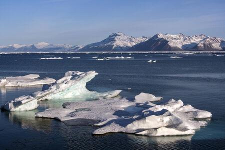 antarctic peninsula: Small icebergs off the coast of the Antarctic Peninsula in the Weddell Sea - Antarctica
