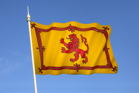 rampant: The Royal Standard of Scotland, also known as the Banner of the King of Scots or more commonly the Lion Rampant of Scotland, is the Scottish Royal Banner of Arms. Editorial