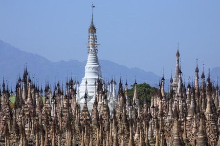 3rd century: Stupa in the Kakku Buddhist Temple in Shan State in Myanmar (Burma). This ancient temple has 2478 stupa and dates from the 3rd century BC.