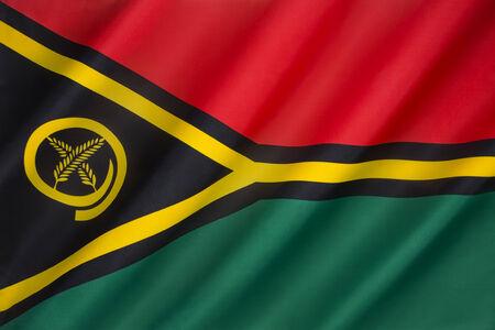 oceana: The flag of Vanuatu - adopted on 13 February 1980.