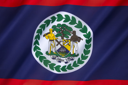 tourism in belize: Flag of Belize - This is a new version of the earlier flag of British Honduras (the name of Belize during the British colonial period). Adopted on September 21st 1981.