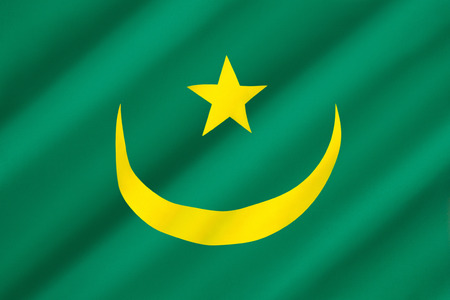 subsequent: Flag of Mauritania - The flag was adopted on 1st April 1959. It was introduced under the instructions of Moktar Ould Daddah, and the subsequent constitution of 22nd March 1959. Green is also used to symbolize Islam, and the gold for the sands of the Sahar