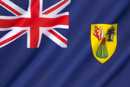 the turks: Flag of the Turks and Caicos Islands - adopted on 7th November 1968.