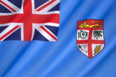 fijian: Flag of Fiji - adopted on 10th October 1970. The state arms have been slightly modified, but the flag has remained the same as during the colonial period with Great Britain.