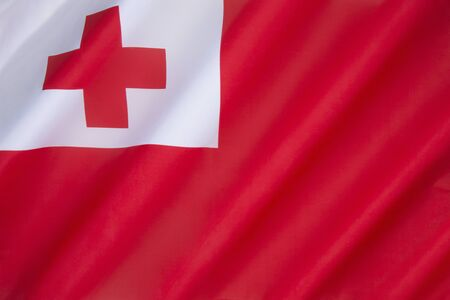 oceana: Flag of Tonga Stock Photo
