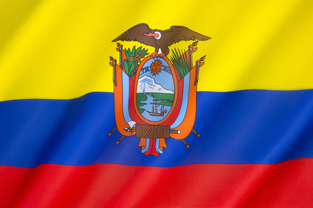 finalized: Flag of Ecuador - Dates from 1835, although the design of the current flag was finalized in 1900 with the addition of the coat of arms in the center of the flag.