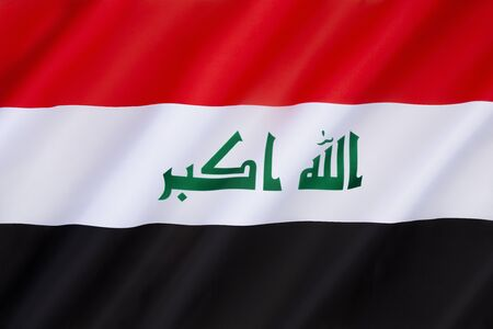 green been: Flag of Iraq - This basic tricolor has been in use since 1963, with several changes to the green symbols, the most recent version bears the takbir rendered in green. This version adopted on 22nd January 2008.