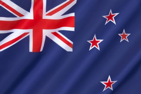 crux: Flag of New Zealand - Adopted 24th March 1902. The stars represent the constellation of Crux, the Southern Cross. Stock Photo