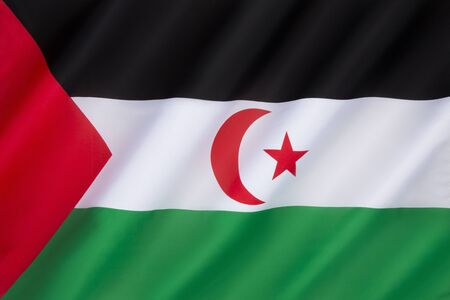 disputed: This is the flag used in the area controlled by the Sahrawi Arab Democratic Republic since the disengagement of the Spanish forces in 1976, the Polisario represents the territory. Morocco controls most of the territory and administers it as its Southern P