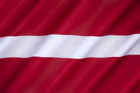 suppressed: Flag of Latvia - used by independent Latvia from 1918 until the country was occupied by the Soviet Union in 1940. Its use was suppressed during Soviet rule. After regaining its independence, Latvia re-adopted on 27 February 1990.