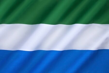 gained: The flag of Sierra Leone - It was adopted in 1961, when Sierra Leone gained independence from Great Britain.