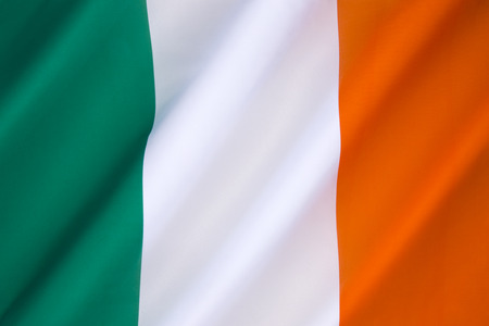 gaelic: Flag of Ireland - frequently referred to as the Irish tricolor. The green represents the Gaelic tradition of Ireland, the orange represents the followers of William of Orange, and the white represents the aspiration for peace between them.