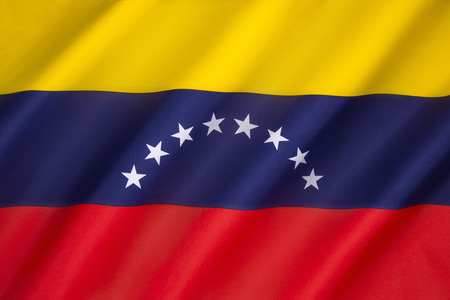venezuelan: Flag of Venezuela - was introduced in 2006. The basic design dates to 1811, and the Venezuelan War of Independence. Stock Photo