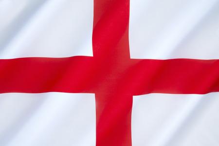 Drapeau de l'Angleterre - L'association de la croix rouge comme emblème de l'Angleterre remonte au Moyen Age. Utilisé comme un composant dans la conception du drapeau de l'Union en 1606. Cependant, le drapeau anglais n'a aucun statut officiel au sein du Royaume-Uni. Banque d'images - 35944541
