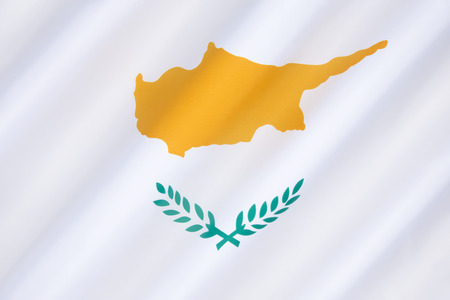proclaimed: Flag of Cyprus - came into use on August 16th 1960, under the Zurich and London Agreements, whereby a constitution was drafted and Cyprus was proclaimed an independent state. Stock Photo