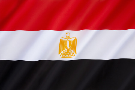 egypt revolution: Flag of Egypt - The Arab Liberation flag dating back to the Egyptian Revolution of 1952. The flag bears the Egyptian national emblem, the Eagle of Saladin. Adopted 4th October 1984.