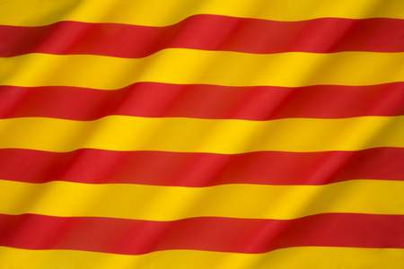 historically: Flag of Catalonia - The Senyera. This flag, often called bars of Aragon, historically represented the King of the Crown of Aragon.