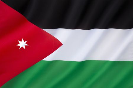 revolt: Flag of Jordan - officially adopted on 18th April 1928. Based on the flag of the Arab Revolt against the Ottoman Empire during World War I. The seven-pointed star stands for the seven verses of the first surah in the Koran.