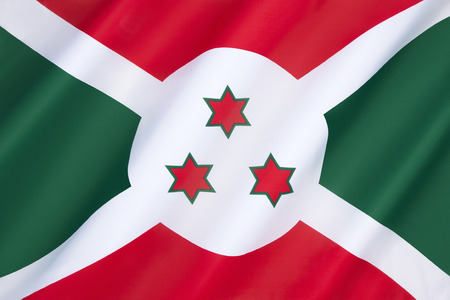 tanganyika: Flag of Burundi  - adopted on 28th June 1967 following independence from Belgium on 1st July 1962. Burundi is a central African country on the east side of Lake Tanganyika, to the south of Rwanda.