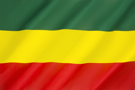 Flag of the Rastafari Movement - a religious movement of Jamaican origin holding that Emperor Haile Selassie of Ethiopia was the Messiah and that black races are the chosen people and will eventually return to their African homeland.