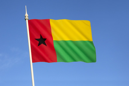Flag of Guinea-Bissau - adopted in 1973 following independence from Portugal. Based on the flag of Partido Africano para a Independencia da Guine e Cabo Verde (PAIGC), still the dominant political party.