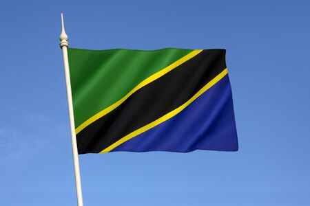 Flag of Tanzania - Adopted in 1964 to replace the individual flags of Tanganyika and Zanzibar, it has been the flag of the United Republic of Tanzania since the two states merged together.