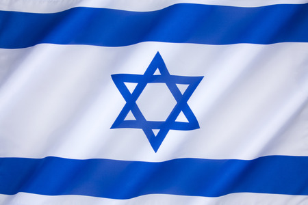 The flag of Israel was adopted on October 28, 1948, five months after the establishment of the State of Israel. The symbol in the centre represents the Star of David.