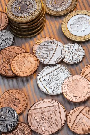 bimetallic: Selection of British coins