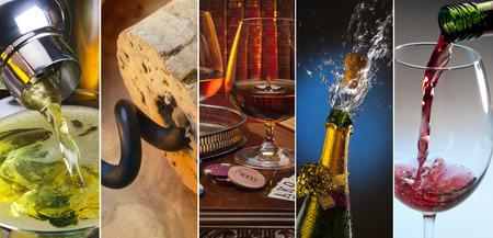 intoxicating: Alcoholic Drinks - martini, wine, brandy, champagne