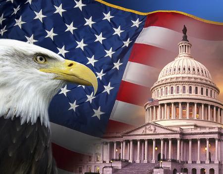Patriotic Symbols of the United States of America Archivio Fotografico