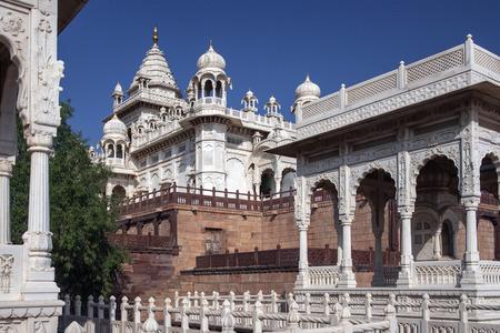 maharaja: Marble Cenotaph of Maharaja Jaswant Singh in Jodhpur in Rajasthan in India