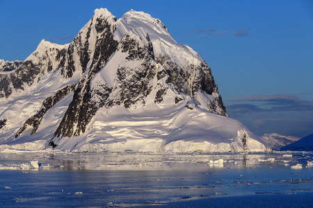 antarctic peninsula: Scenery in the Lemaire Channel on the Antarctic Peninsula in Antarctica. Stock Photo